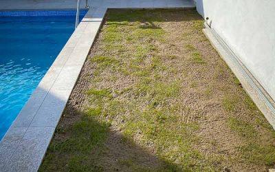 Pinsapo Garden lleva a cabo la instalación de un césped natural en una vivienda unifamiliar.